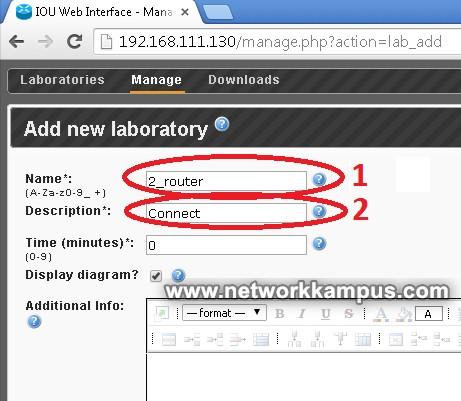 iou'da laboratuvar ortamı kurmak isim ve açıklama girmek