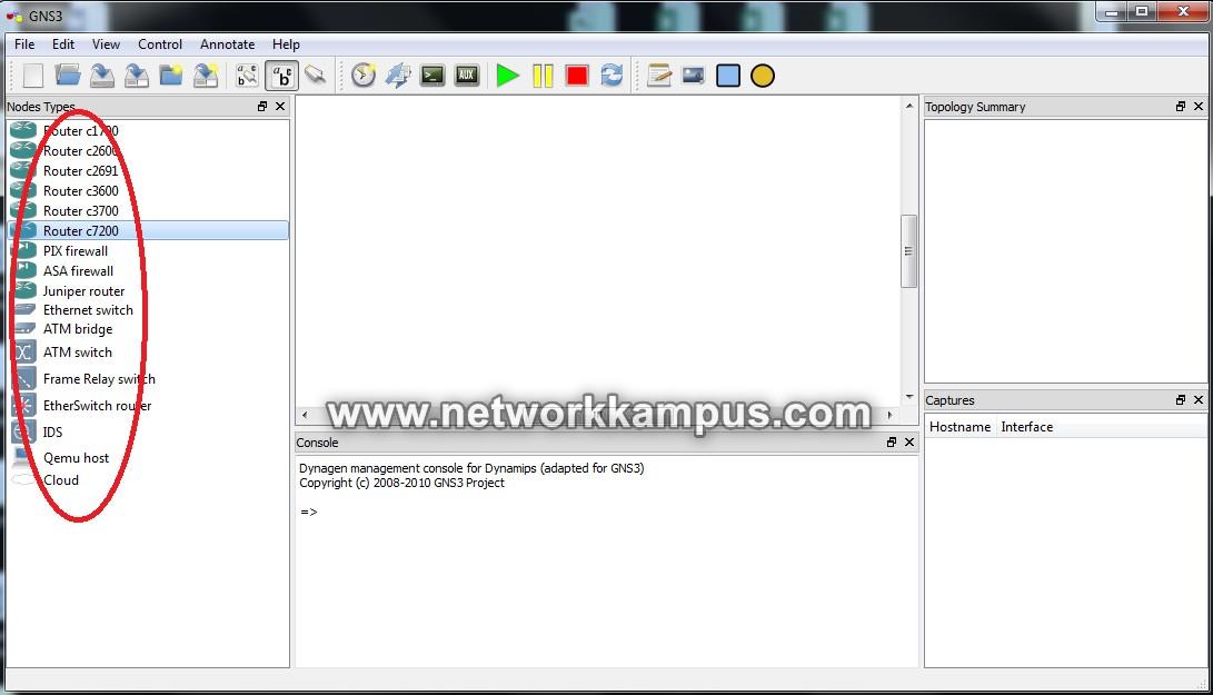 gns3'te laboratuvar ortamı kurmak network elemanları