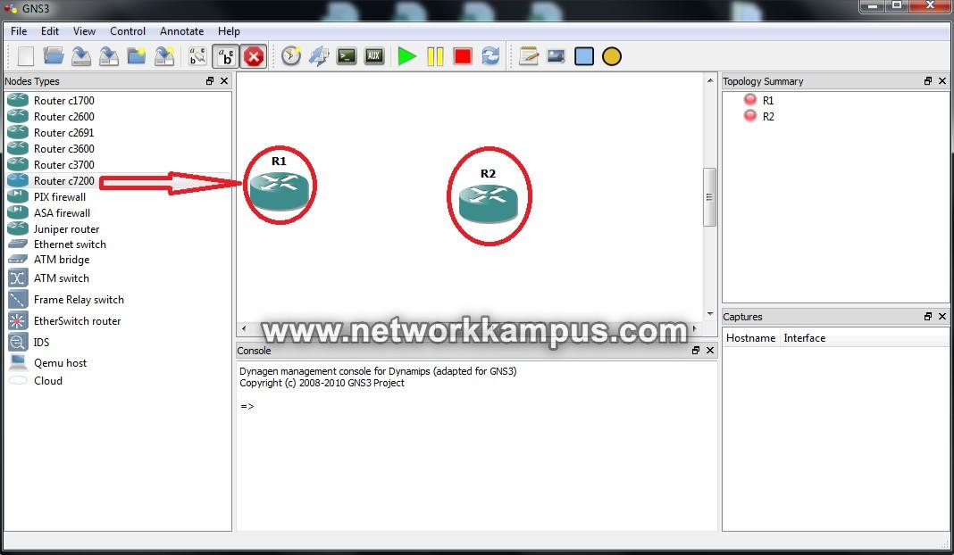 gns3'te laboratuvar ortamı kurmak network elemanlarının seçimi