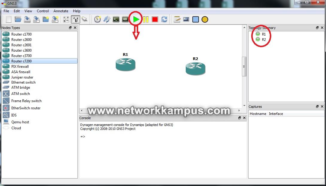 gns3'te laboratuvar ortamı kurmak network elemanları on/off