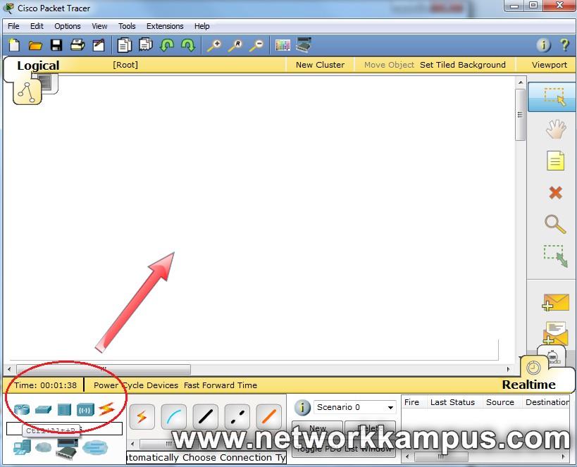 packet tracer laboratuvar ortamı kurmak router switch hub listesi