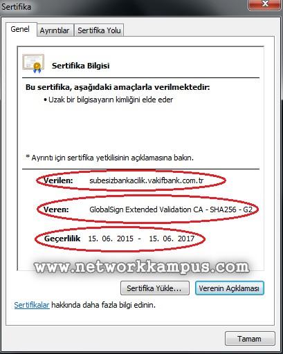 SSL nedir ne işe yarar sertifika örneği