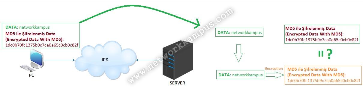 SSL nedir ne işe yarar verinin değişip değişmediğinin kontrolü hashing tekniği