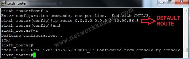 eigrp redistribute altıncı router default route yazma