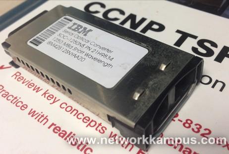 IBM marka 1 gigabit SX (Kısa Dalga Boyu, Short Wavelength) Seri Optik Dönüştürücü (SOC, Serial Optical Converter)