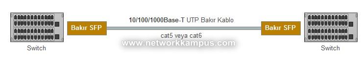 10/100/1000-T Bakır SFP UTP