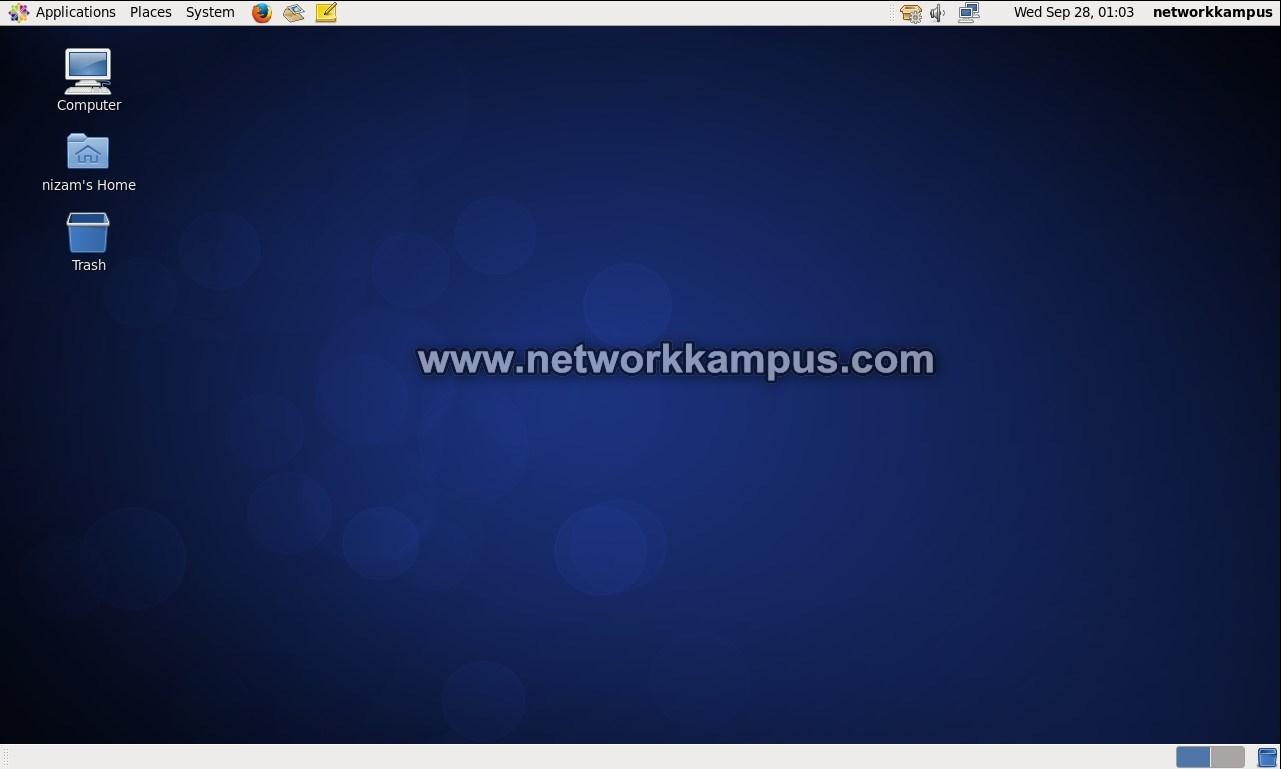 linux centos grafiksel ekran
