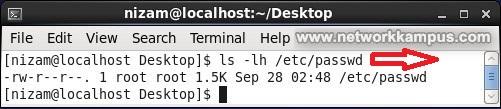 linux centos/rhel red hat ls komutu parametreleri örnek