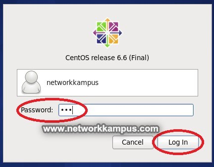 virtual machine centos vmware kullanıcı şifre girme