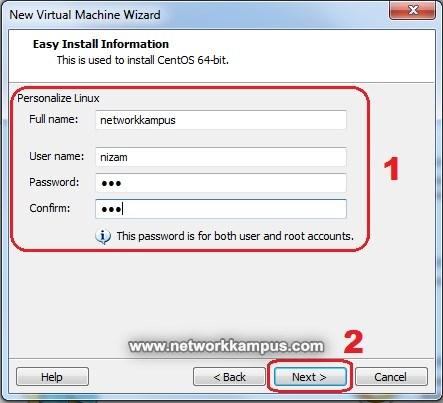 virtual machine centos vmware kurulumu kullanıcı adı ve şifre