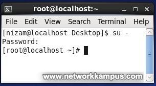 linux centos komut satırı root girişi