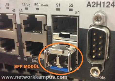 switch'e SFP modül takmak