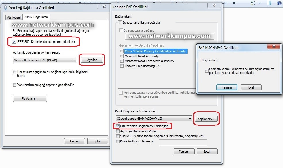 windows 7 kimlik doğrulamasını etkinleştir