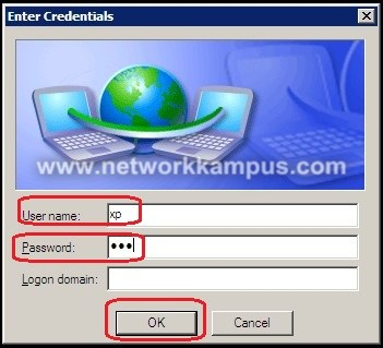 Windows XP 802.1x kullanıcı adı username ve şifre password girme işlemi