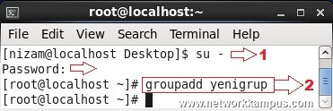 linux rhel centos red hat group add komutu ile yeni bir grup eklemek