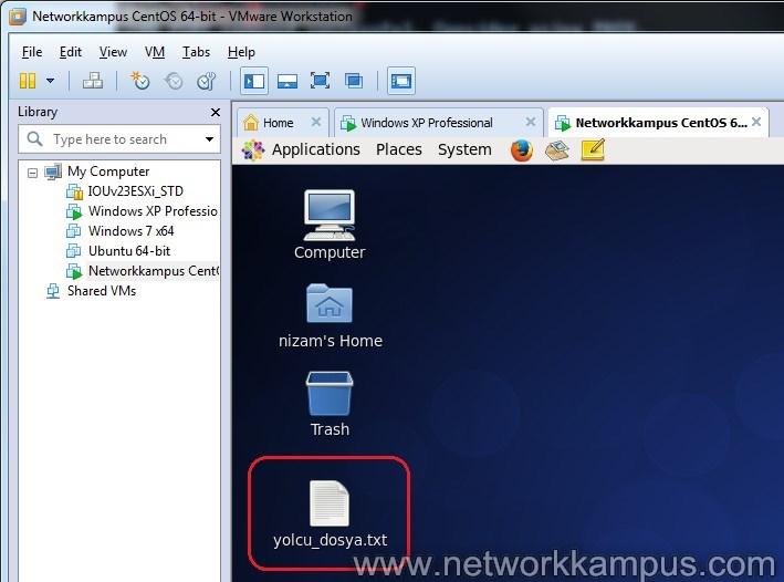 windows 7'den cmd ile dosya atmak