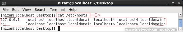 linux centos red hat rhel bilgisayar isimleri host dosyasi