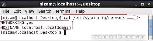 linux centos red har rhel /etc/sysconfig/network Dosyası