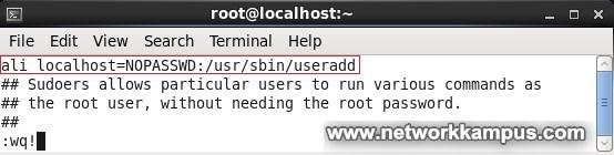 linux centos red hat rhel şifre sormadan sudo kullanarak