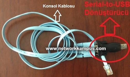 serial-to-usb donusturucu konsol kablosu