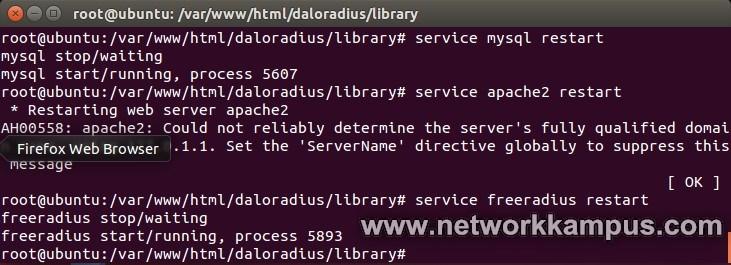 ubuntu servisler restart