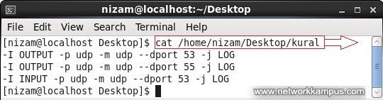 linux centos kırmızı şapka rhel güvenlik duvarı iptables özel kuralları dosya olusturma