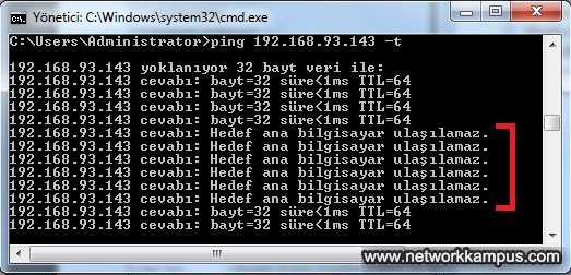 linux centos red hat rhel firewall iptables icmp filter örnek