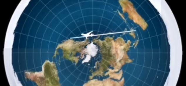 Düz Dünya Haritasına Acil İniş