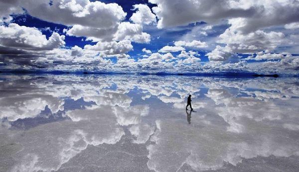 Bolivya'da Bulunan Salar De Uyuni Göl