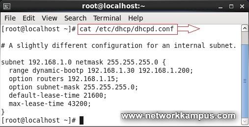 linux centos red hat rhel dhcp server yapilandirma