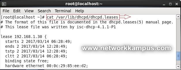 linux centos red hat rhel dhcp ip adresleri