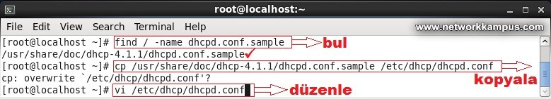linux centos red hat rhel dhcp server kurmak