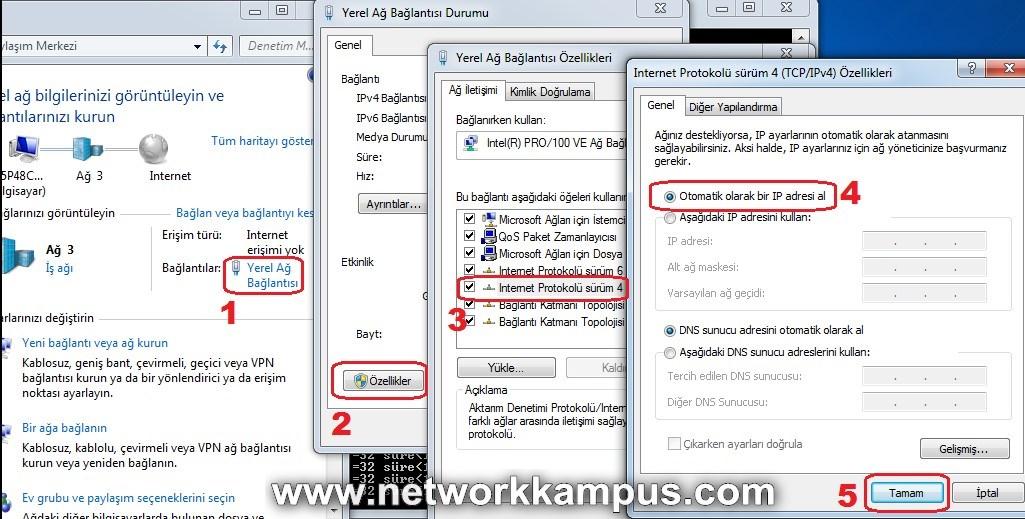 Windows 7 DHCP Acmak