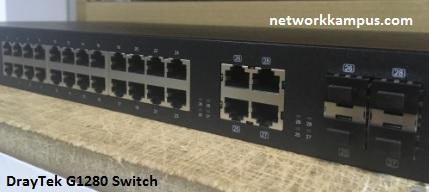 draytek g1280 switch combo port